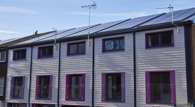 A 'deep retrofit' pilot of 10 homes has been undertaken in Nottingham by Nottingham City Homes Energiesprong (IET/PA)