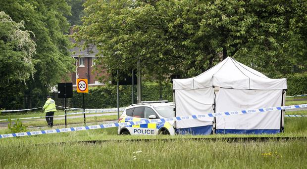 The scene in Lowedges Road in Sheffield where the teenager died (Danny Lawson/PA)