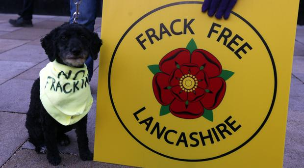 Protesters are campaigning against fracking in Lancashire (Lynne Cameron/PA)