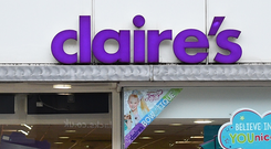 Claire's has more than 350 stores in the UK and dozens of concessions