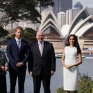 The Duke and Duchess of Sussex start their 16-day tour by meeting Australia's Governor-General Peter Cosgrove and his wife Lynne Cosgrove at Sydney's Admiralty House (Phil Noble/PA)