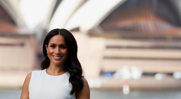 The Duchess of Sussex stands in the grounds of Admiralty House in Sydney (Phil Noble/PA)