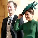 Pippa Middleton and husband James Matthews attended Princess Eugenie and Jack Brooksbank's wedding on Friday (Adrian Dennis/PA)