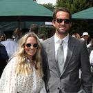 Sir Ben Ainslie and Lady Ainslie on day seven of the Wimbledon Championships at the All England Lawn Tennis and Croquet Club, Wimbledon (Philip Toscano/PA)