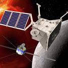 An artist's impression of the two BepiColombo orbiters (ESA/PA)