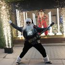 The Selfridges department store in London unveils it's Christmas windows on Oxford Street with the theme Selfridges Rocks Christmas featuring 'Rock Santa'.