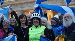 Jenny Graham from Inverness completed the feat in 125 days (Thomas Hogben/Cycling UK)