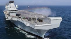 The UK's new aircraft carrier HMS Queen Elizabeth (Ministry of Defence/PA)