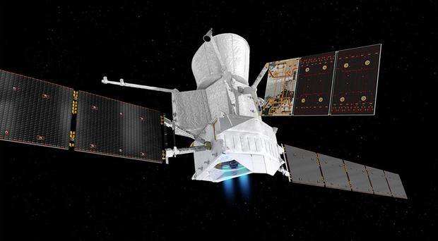 """The BepiColombo in """"cruise mode"""" on its way to Mercury (Artist's impression issued by ESA/PA)"""
