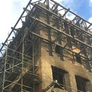 Work to stabilise the Mackintosh Building's west gable has been completed (Glasgow School of Art/PA)