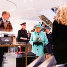 The Queen looks around the Fenwick department store during a visit to the Lexicon shopping centre in Bracknell, Berkshire (Henry Nicholls/PA)