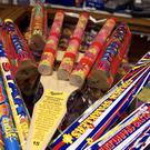 Fireworks on sale in a North London store.