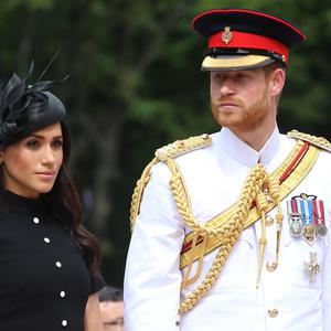 The Duke and Duchess of Sussex attended the opening of the Anzac Memorial in Hyde Park, Sydney (Ian Vogler/PA)