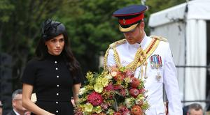 The Duke and Duchess of Sussex attend the opening of the Anzac Memorial in Hyde Park, Sydney (Ian Vogler/PA)