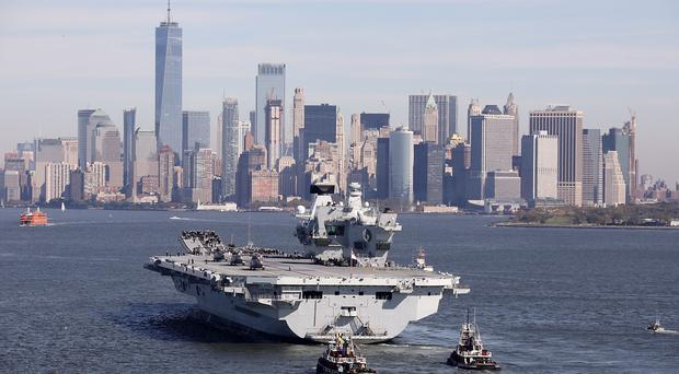 HMS Queen Elizabeth arriving in New York City (LPhot Kyle Heller/Royal Navy/MoD)