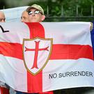 The English Defence League marched in Manchester (David Mirzoeff/PA)