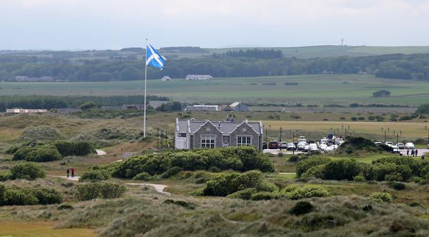 The crash happened at the entrance to the Trump golf course at Menie, Aberdeenshire (Andrew Milligan/PA)