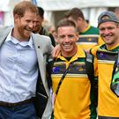 The Duke of Sussex attends a cycling event at the 2018 Invictus Games (Dominic Lipinski/PA)