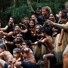The Duke of Sussex poses for a photo with Butchulla People during a dedication ceremony of the forests of K'gari to the Queen's Commonwealth Canopy on Fraser Island, Queensland, on day seven of the Duke and Duchess of Sussex's visit to Australia.