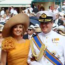 Willem-Alexander and Maxima at the wedding of Prince Albert II of Monaco (Dominic Lipinski/PA)
