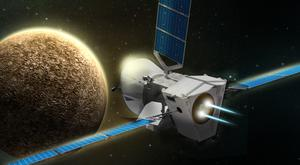 An artist's impression of BepiColombo approaching Mercury (Airbus2017/PA)