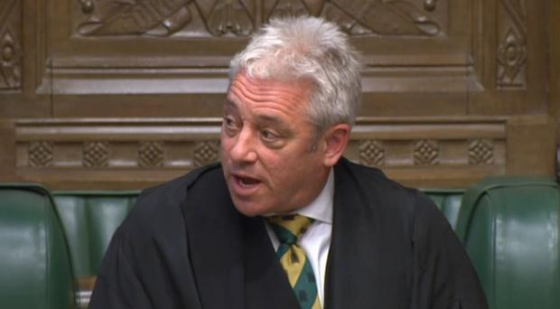 Speaker John Bercow accepted their resignations 'with regret' (PA)