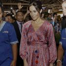 The Duchess of Sussex during a visit to a market in Suva, Fiji (Kirsty Wigglesworth/PA)