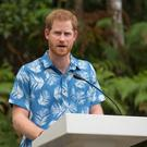 The Duke of Sussex makes a speech at the Colo-i-Suva forest (Dominic Lipinski/PA)