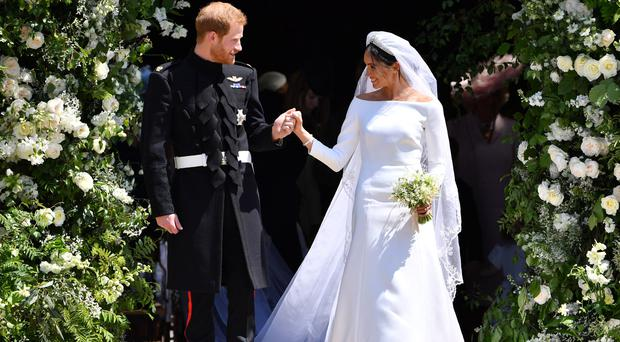 The Duke and Duchess of Sussex on their wedding day (Ben Stansall/PA)