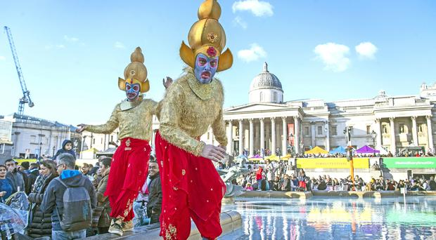 Diwali in Trafalgar Square (Victoria Jones/PA)