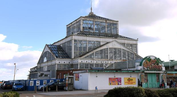 The UK's last surviving seaside Victorian cast iron and glass winter gardens, in Great Yarmouth (Joe Giddens/PA)