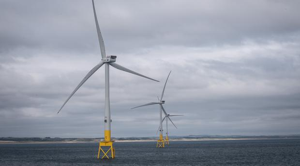 Vattenfall's European Offshore Wind Deployment Centre, off the coast of Aberdeen (Michal Wachucik/PA)