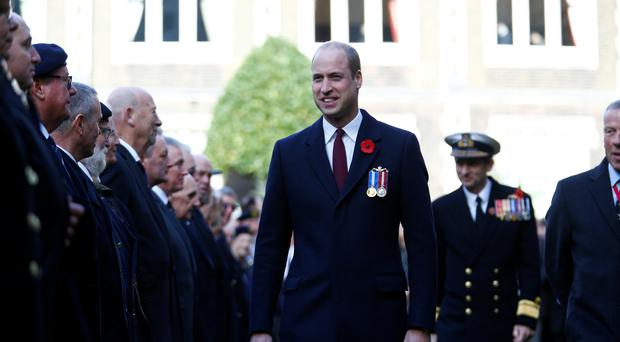 The Duke of Cambridge attends the Submariners' Remembrance Service and Parade (Henry Nicholls/PA)