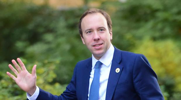Matt Hancock said the NHS could not cope with the current pace of increase in acute hospital admissions (David Mirzoeff/PA)