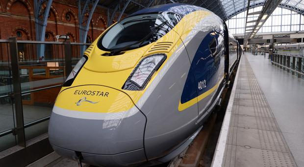 Eurostar passenger numbers were up 12% year-on-year between July and September (Stefan Rousseau/PA)
