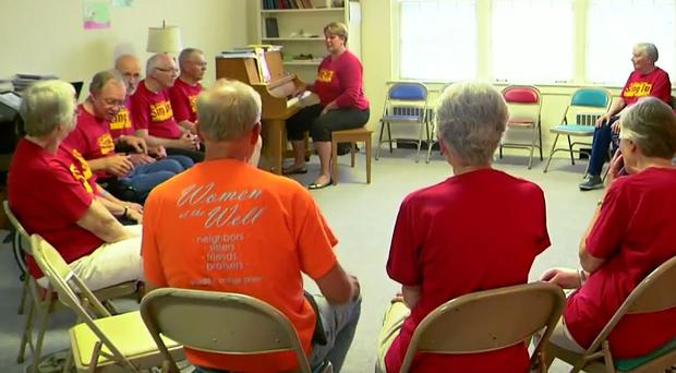 A singing group composed of Parkinson's patients. Singing has been shown to improve symptoms of the disease. (Iowa State University/PA)