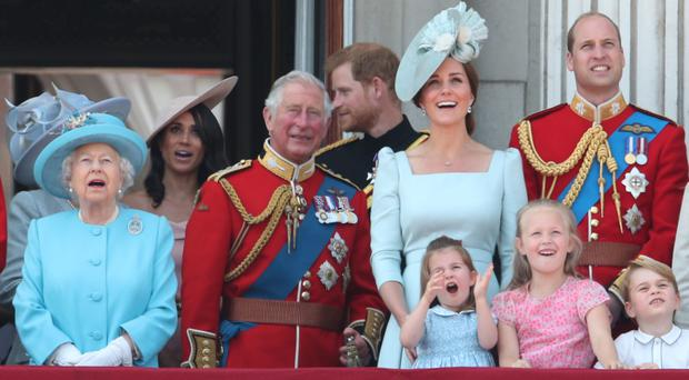 The Prince of Wales surrounded by family including grandchildren Princess Charlotte and Prince George (Yui Mok/PA)