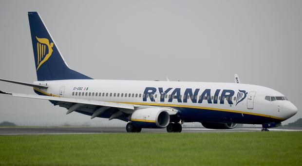 Ryanair is expanding its presence at Edinburgh Airport (Peter Byrne/PA)