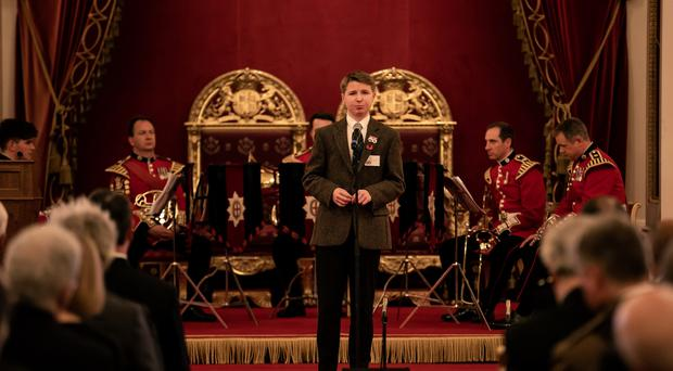 Hamish Scott read his poem at Buckingham Palace (Richard Davenport/The Other Richard/PA)