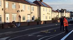 The scene of the shooting (Tom Wilkinson/PA)