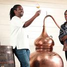 Master distiller Paul Rutasikwa and CEO Jacine Rutasikwa at their new Livingston distillery (Stewart Attwood)