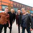 Westlife at the SSE Arena, Belfast, ahead of the press conference