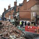 The scene on Hinckley Road (Aaron Chown/PA)