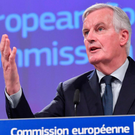 EU's chief Brexit negotiator Michel Barnier addresses the European Commission yesterday