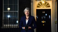 Theresa May confirms Cabinet has agreed the draft Brexit withdrawal agreement (Victoria Jones/PA)
