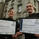 Police constables Laura Sayer and Kenneth MacKenzie were seriously injured during the incident (Andrew Milligan/PA)
