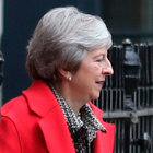 Theresa May leaves 10 Downing Street yesterday