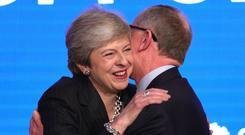Prime Minister Theresa May with her husband Philip (Aaron Chown/PA)