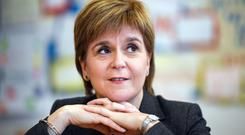 Nicola Sturgeon believes there a potential Commons majority for remaining in the single market and customs union (Jeff J Mitchell/PA)