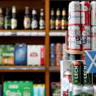 Alcohol for sale in an off-licence in Scotland, the first country in the world to introduce minimum unit pricing for drinks.